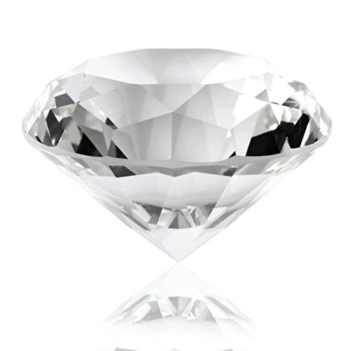 60mm Clear Crystal Diamond Shape Paperweight Cut Glass Display Ornament - Paperweight Diamond Cut