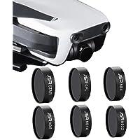 [DJI Mavic Air Lens Filter] 6Pcs/Set ND4 ND8 ND16 ND32 STAR CPL Waterproof Camera Lens Filter (Black)