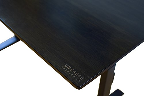 RISE UP Electric Adjustable Height Standing Desk + Beautiful Black Bamboo Desktop| Memory Keypad| 2 Motors| Affordable Ergonomic Sit Stand Office Desk by Uncaged Ergonomics (Image #8)