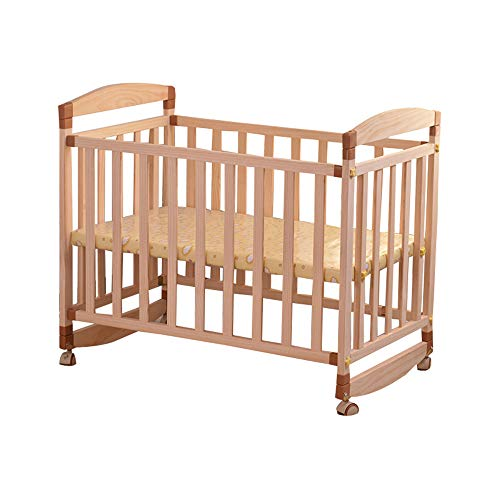 Furniture Solid Wood Crib Baby Cot Bed Frame for Toddler Kids Cradle Junior Splicable Widening Child Folding Bed