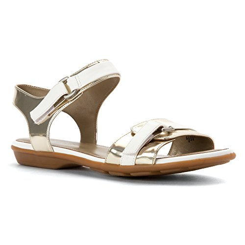 Easy Spirit Womens Ricosa Sandal Silver/White Synthetic CRZ2yyl