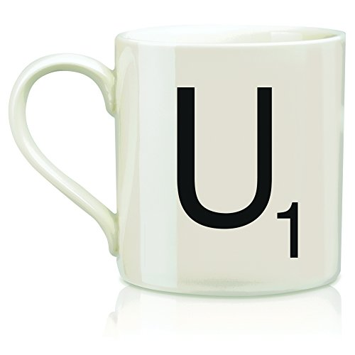 "SCRABBLE Vintage Ceramic Letter""U"" Tile Coffee Mug"