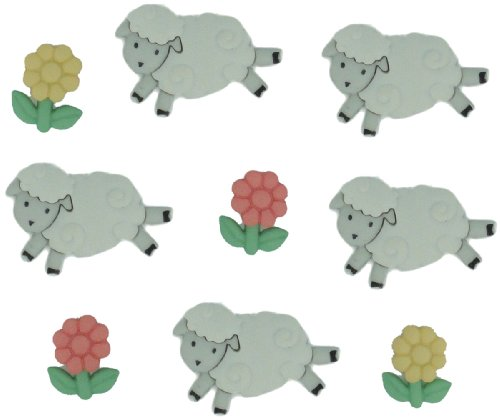 Jesse James Buttons (Jesse James (1-Pack) Dress It Up Buttons Baby Collection #5798 Counting Sheep 5798-1P)