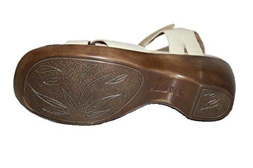 Naot - Tira de tobillo de cuero mujer marfil - Taube (dove)