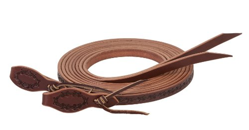 Weaver Leather Barbed Wire Split Rein, 5/8-Inch x 8-Feet, Brown (Water Loop Split Reins)