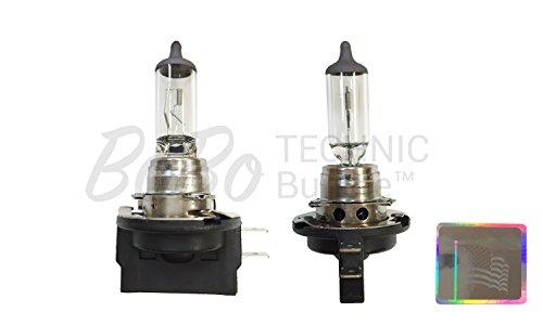 BoBoTECHNIC Bundle: Set of 2 Osram / Sylvania Long Life Halogen H11B Headlight Bulbs # 64241L - NEW OEM - 12V / 55W - Made in Germany & BoBoTECHNIC Hologram Sticker