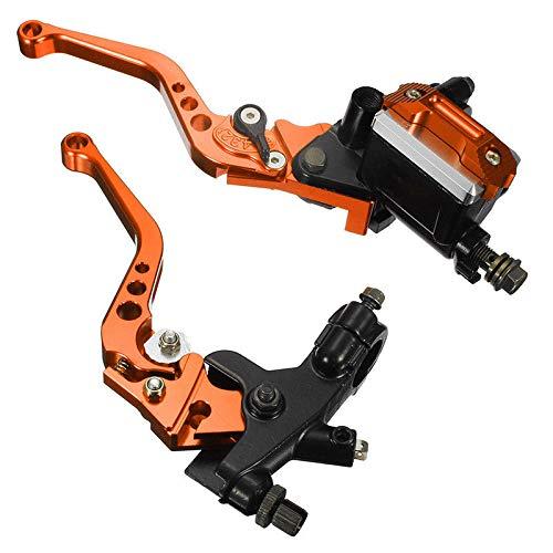 Lisyline Universal Motorcycle 7//8 22mm Handlebar Brake Master Cylinder Clutch Lever Left /& Right Set Orange