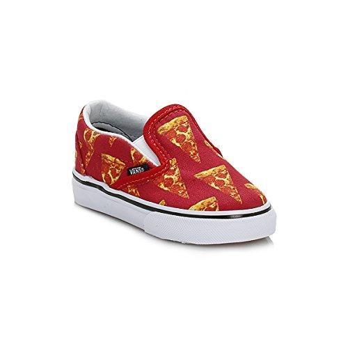 Vans Niños Mars Rojo/Pizza Classic Slip On Zapatillas