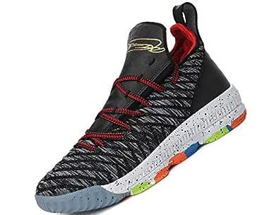 SINOES Hombre Mujer Zapatillas de Baloncesto Calzado Deportivo Al Aire Libre High-Top Sneaker Antideslizante Zapatillas de Deporte Ligeros Zapatos ...
