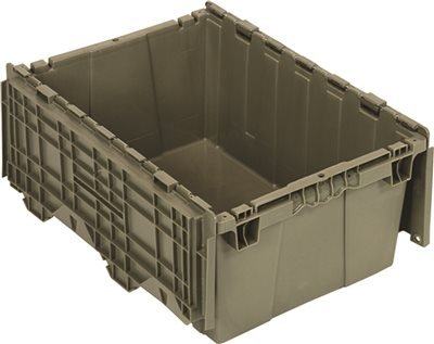 Quantum Storage Systems QDC2115-9 Attached Lid Distribution Container, Gray, Plastic, 16