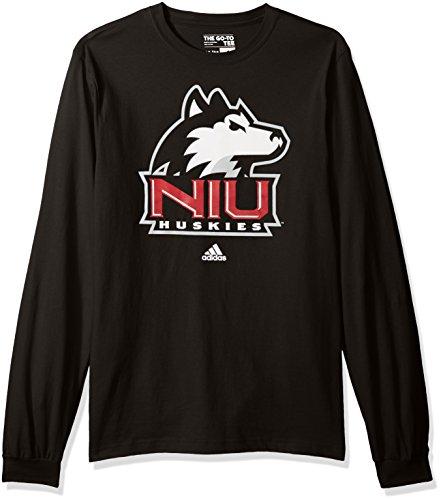 NCAA Northern Illinois Huskies Adult men School Logo L/S Tee,Large,Black