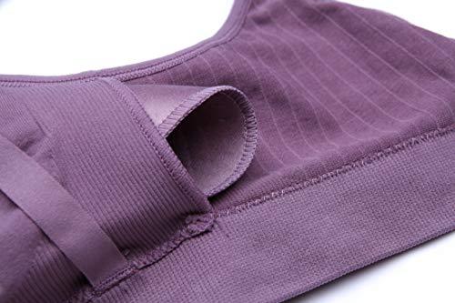 Purple sagging Seamless Anti Women Refago Nursing Ring Bra Pregnant Steel Gathered No Underwear wIn7xTS