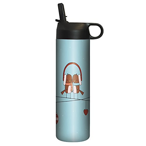 Tree-Free Greetings SP30401 Sportiva Stainless Steel Tumbler, Double-Walled and Vacuum Insulated Cup with Straw Ear, 17 oz by Tree-Free Greetings