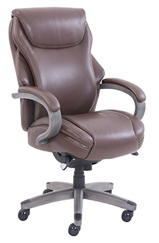 La Z Boy CHR10044C Hyland Office Chair, Executive, Brown and (La Z-boy Leather Arm Chair)