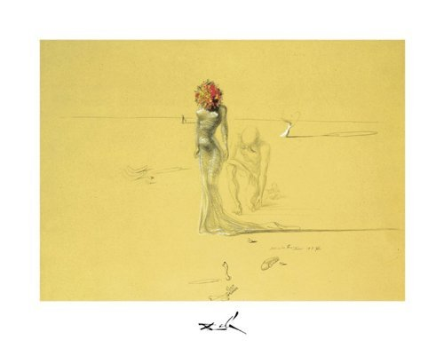 (11x14 Salvador Dali - Female Figure with a Head of Flowers)