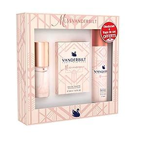 Miss Vanderbilt – Coffret Eau de Toilette 30 ml – Spray Déodorant 150 ml – Vaporisateur de Sac 15 ml