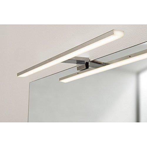 PRADEL Spot de Salle de Bains avec éclairage LED - Chrome - 5, 2 cm x 50 cm (HxL)