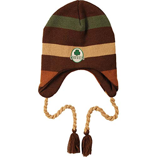 Guinness Men's Striped Beanie Brown ()