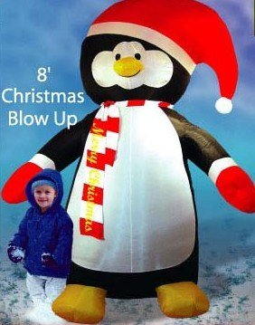 8 Ft Christmas Penguin Airblown Inflatable