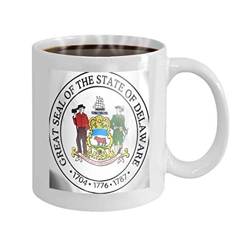 11 oz Coffee Mug state seal delaware usa d rendered