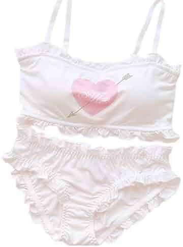be83805f002 YOMORIO Girls Cute Bra Panty Set Lolita Anime Cosplay Lingerie Kawaii  Japanese Underwear