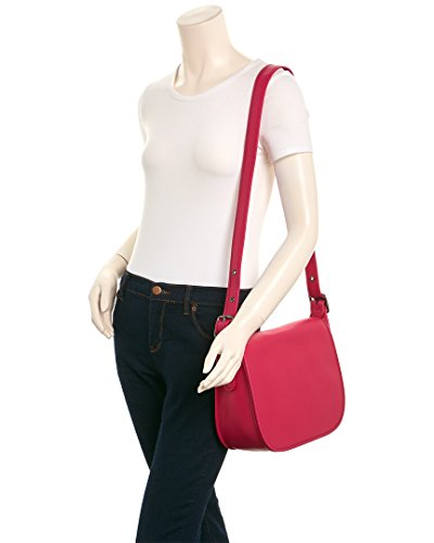 Saddle Gloveton Bag Leather Womens cerise Dk COACH ZgARq