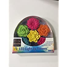 LED Light Up Flowers, Floatable & Waterproof, Great Alternative to Candles.