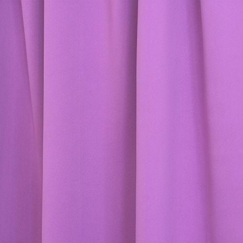 "Best Home Fashion Thermal Insulated Blackout Curtains - Back Tab/ Rod Pocket - Violet - 52""W x 72""L - (Set of 2 Panels)"