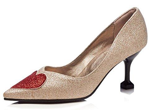 Chaussures Aisun Sexy Coeur Mari Paillettes Femme De qnAwzIF