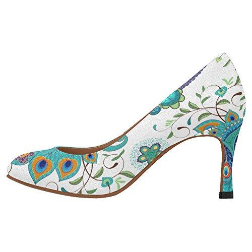 Zapatos De La Bomba Del Vestido Del Alto Talón De La Moda Clásica De Interestprint Para Mujer Multi 6
