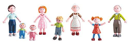 Haba Biegepuppen Little Friends Familie Spar-Paket