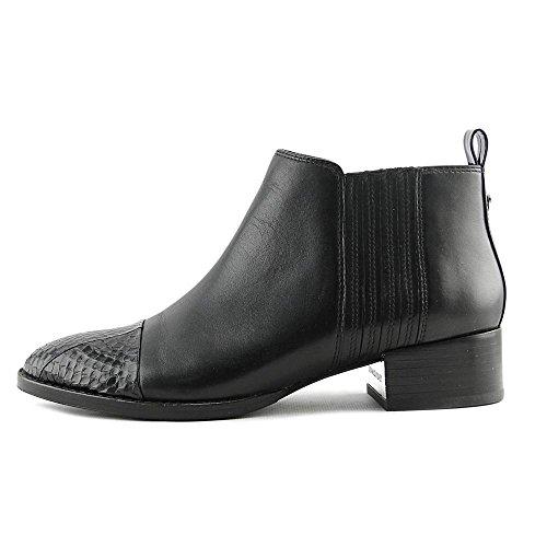 Donald J Pliner Womens alie Leather Cap Toe Ankle Chelsea Boots Black Watersnake