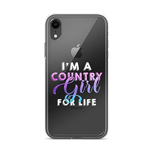 - iPhone XR Pure Clear Case Crystal Clear Cases Cover A Country Girl for Life Transparent
