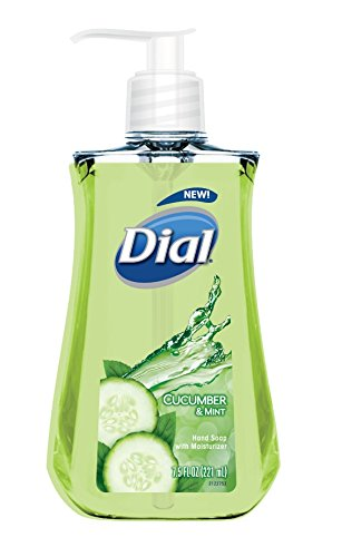 Liquid Wash Hand Refill Mild (Dial Liquid Hand Soap, Cucumber & Mint, 7.5 Fluid Ounces)