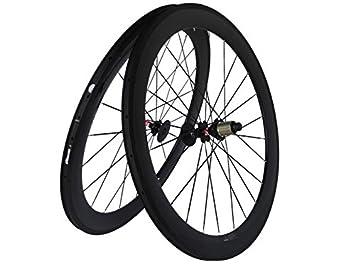Flyxii Carbono 3 K Mate para Bicicleta de Carretera Bicicleta Clincher Ruedas 60 mm Rueda Rim radios HUB para Shimano 8/9/10/11S: Amazon.es: Deportes y aire ...