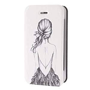 Buy Shadow of Young Girl Pattern Leather Full Body Case for iPhone 4/4S