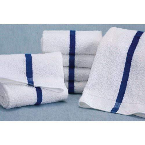 Martex Blue Center Stripe Pool Towel 20x40 5.5 lbs Case of 12 Beach Spa Bath by Martex [並行輸入品] B07RJMYPFQ