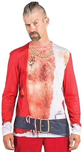Faux Real Bad Santa T-Shirt - Ugly Christmas Sweater - 5 Sizes ()