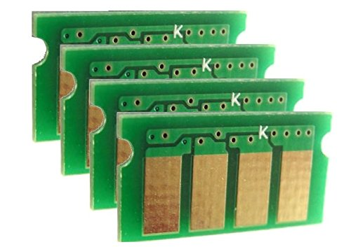 4 Reset Chips (New Era Toner - 4 Color Toner Reset Chip Set for Ricoh Aficio (407539, 407540, 407541, 407542) SP C250SF, SP C250DN - Refill)
