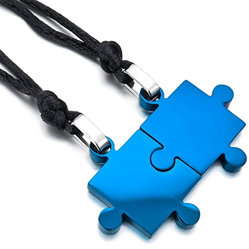 INBLUE Stainless Pendant Necklace Adjustable