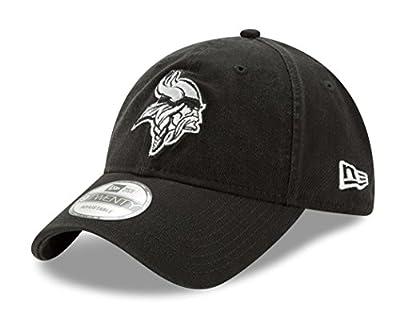 "Minnesota Vikings New Era NFL 9Twenty ""Twill Core Classic"" Adjustable Black Hat by New Era"