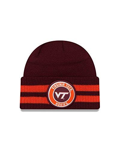 New Era NCAA Virginia Tech Hokies 2 Striped Remix Cuff Knit Beanie, Maroon, One Size -  New Era Cap Company, 80329441