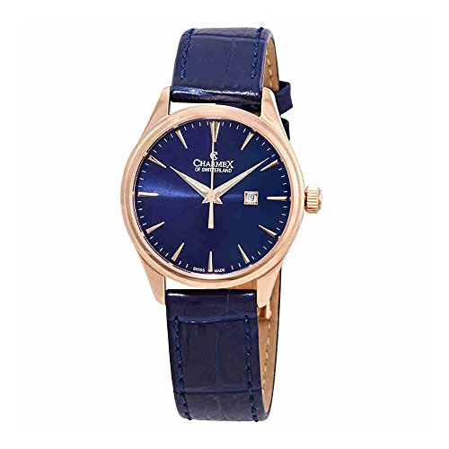 Charmex Blue Dial Blue Leather Ladies Watch 6384