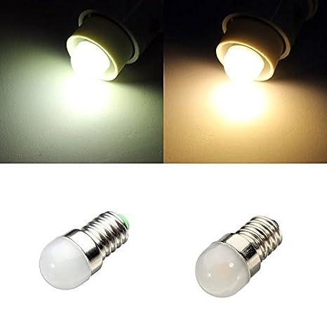 Global E14 LED blanco bombilla de 1.5W / blanco cálido nevera pequeña lámpara ac 220-240v: Amazon.es: Iluminación