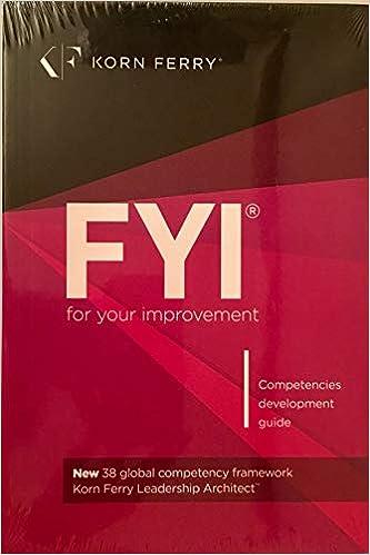 FYI For Your Improvement Competencies Development Guide
