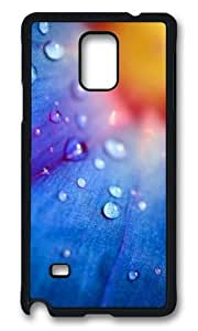 MOKSHOP Adorable flower water droplets Hard Case Protective Shell Cell Phone Cover For Samsung Galaxy Note 4 - PCB