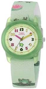 Timex Kids' T7B705 Analog Frogs Elastic Fabric Strap Watch