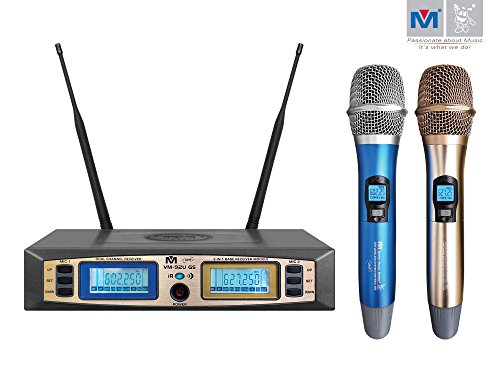 Better Music Builder VM-92U G5 Dual Channel UHF Wireless Microphone System by Better Music Builder