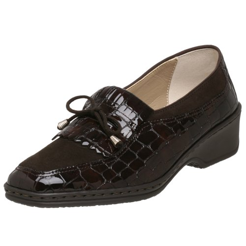 ara Women's Rachel Slip-On Loafer, Dark Brown Croco, 8 M US / 5.5 M UK