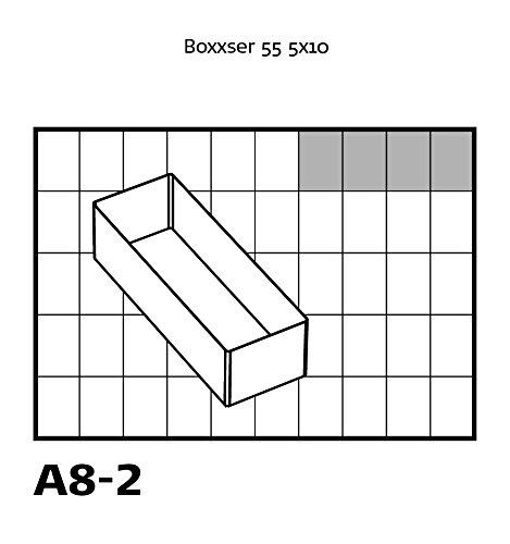 transparente Inserto para organizador 4 compartimentos de A8-2 tipo 55 A Raaco 136457
